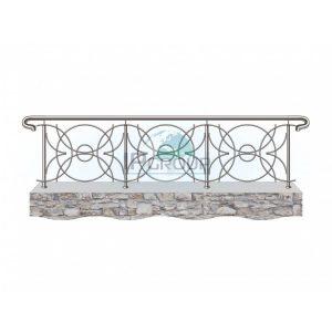 Ограждение лестниц балконов крыш с дизайнерским наполнением ригелями номер 1