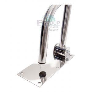 Поручень для инвалидов откидной, настенный, прямой, ручка ∅32 мм, нержавеющая сталь.