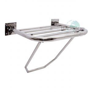 Откидное сидение для душа для инвалидов, ∅32 мм, нержавеющая сталь.