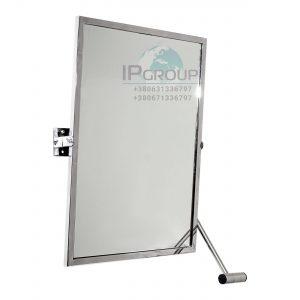 Зеркало настенное поворотное, 500*700 мм, ручка ∅32 мм, нержавеющая сталь.