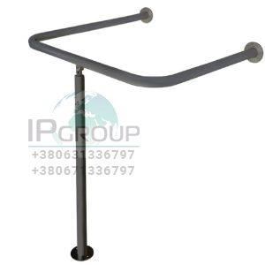 Поручень опорный для раковины для инвалидов, три точки опоры, ручка ∅32 мм, нержавеющая сталь.