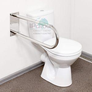 Поручни для ванной и туалета,  настенный стационарный, ручка ∅32 мм, нержавеющая сталь.